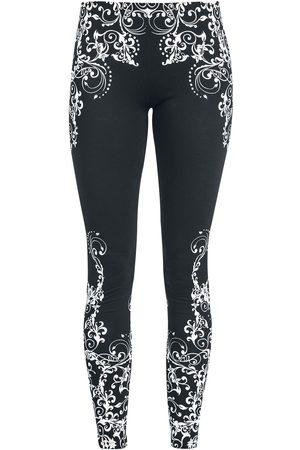 Black Premium by EMP Damen Leggings & Treggings - Schwarze Leggings mit detailreichem Print Leggings