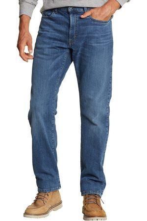 Eddie Bauer Flex Jeans mit Flanellfutter - Straight Fit Herren Gr. 30 Länge 32