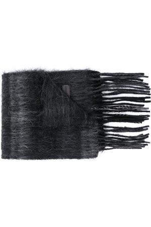 Saint Laurent Check pattern brushed scarf