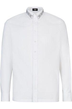 Fendi Hemd mit besticktem Kragen