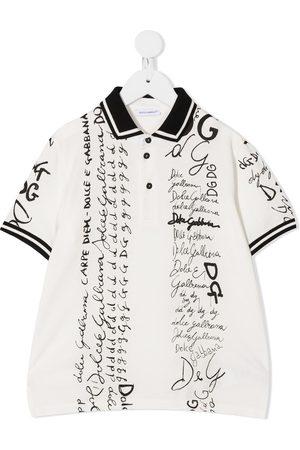 Dolce & Gabbana Letter print polo shirt