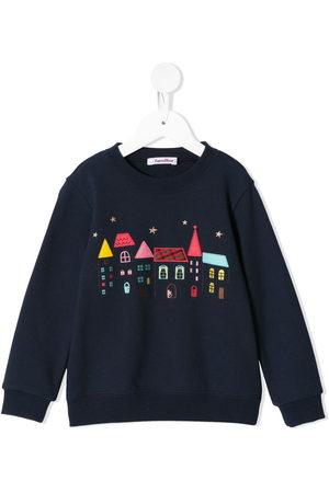 Familiar Sweatshirt mit aufgestickten Häusern