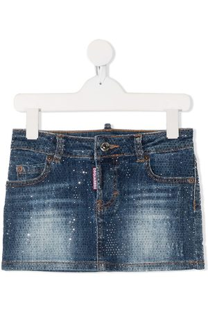 Dsquared2 Crystal-embellished denim skirt