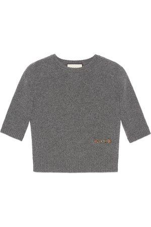 Gucci Damen Oberbekleidung - Oberteil aus Kaschmir mit Horsebit