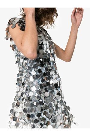Paco rabanne Minikleid mit Pailletten - Metallisch