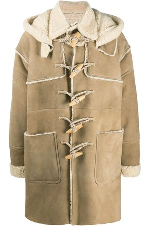 Dsquared2 Shearling-lined duffle coat - Nude