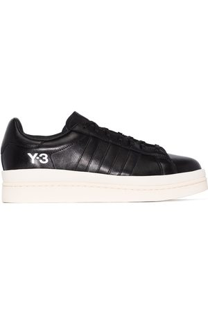 Y-3 Black hicho leather sneakers