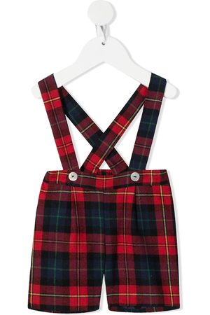 SIOLA Check dungaree trousers