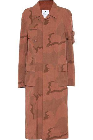 Marine Serre Bedruckter Mantel aus Baumwolle