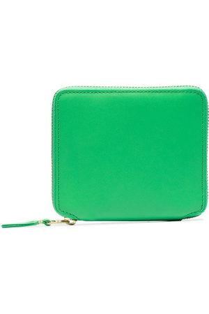 Comme des Garçons Herren Geldbörsen & Etuis - Green classic leather wallet