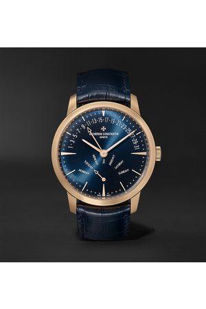 Vacheron Constantin Herren Uhren - Patrimony Retrograde Day-Date Automatic 42.5mm 18-Karat Pink Gold and Alligator Watch, Ref. No. 4000U/000R-B516