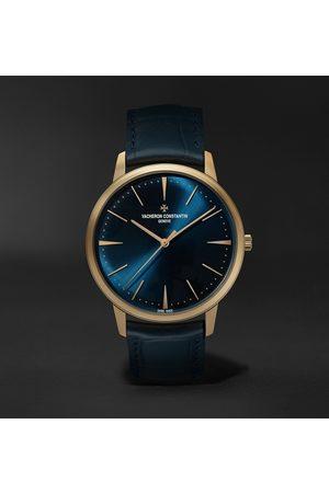 Vacheron Constantin Herren Uhren - Patrimony Hand-Wound 40mm 18-Karat Pink Gold and Alligator Watch, Ref. No. 81180/000R-B518