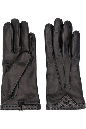 Prada Stitched logo plaque gloves