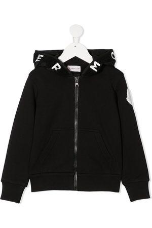 Moncler Hood logo zip-up jacket