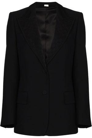 Gucci Logo-jacquard blazer