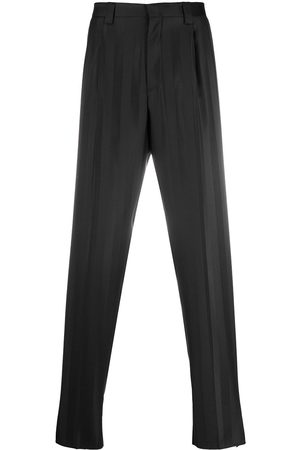 Emporio Armani Shadow-stripe tailored trousers