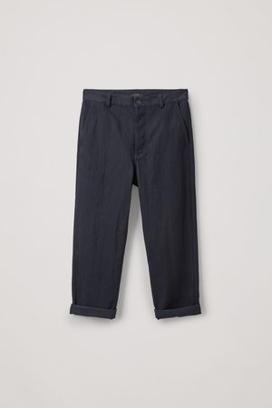 COS Damen Tapered - RELAXED BUTTON-UP CHINOS