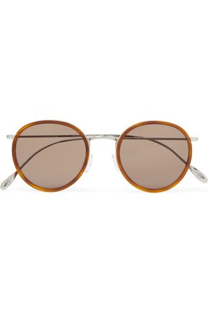 KINGSMAN Cutler and Gross Round-Frame Acetate and Silver-Tone Sunglasses