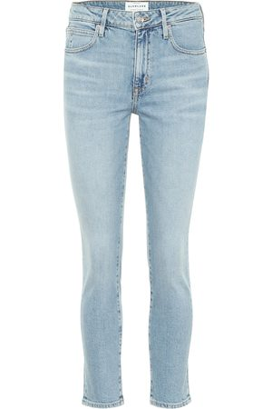 SLVRLAKE Damen High Waisted - High-Rise Cropped Jeans Lou Lou