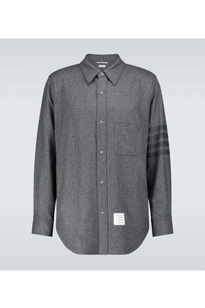 Thom Browne Hemd 4-Bar aus Wolle und Kaschmir
