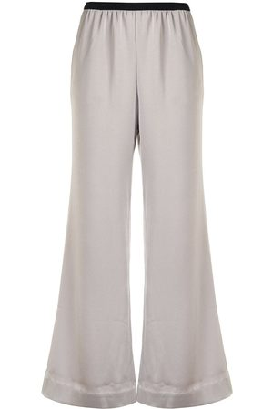 GOODIOUS Damen Weite Hosen - Cropped wide-leg trousers