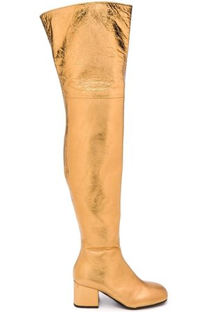 Marni Metallic square-toe boots
