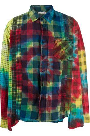 Pins & Needles Multi-check tie-dye shirt