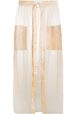 LOULOU Tulle overlay skirt - Nude