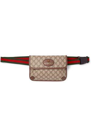 Gucci Herren Gürtel - Ophedia Leather-Trimmed Monogrammed Coated-Canvas Belt Bag