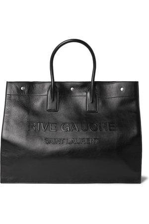 Saint Laurent Noe Logo-Embossed Leather Tote Bag