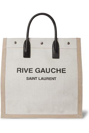 Saint Laurent Herren Shopper - Noe Logo-Print Leather-Trimmed Canvas Tote Bag