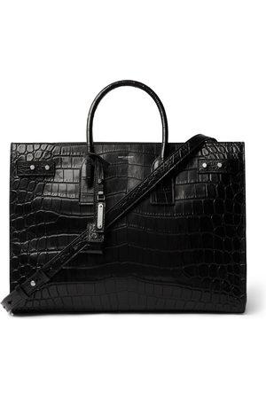 Saint Laurent Herren Shopper - Croc-Effect Leather Tote Bag