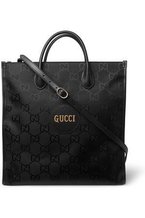 Gucci Herren Shopper - Off the Grid Leather-Trimmed Monogrammed ECONYL Canvas Tote Bag
