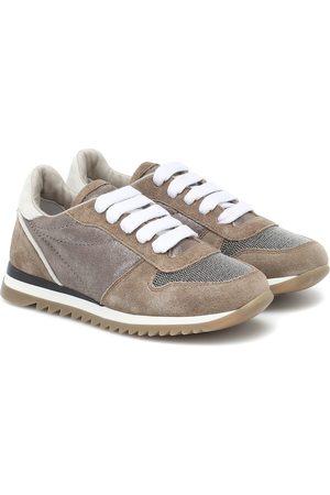 Brunello Cucinelli Sneakers aus Veloursleder