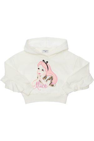 MONNALISA Sweatshirt Aus Baumwolle Mit Patch