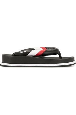Ash Stripe trim flip flops