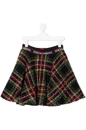 Dolce & Gabbana Tartan bouclé skirt