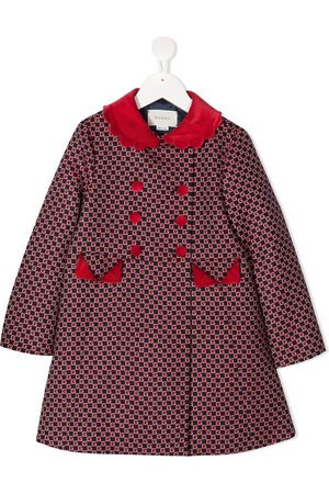 Gucci GG double-breasted coat - 4668 BLUE/ RED