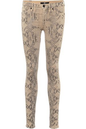 7 for all Mankind Mid-Rise Cropped Jeans The Skinny