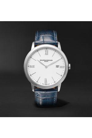 Baume & Mercier Herren Uhren - Classima 40mm Steel and Croc-Effect Leather Watch, Ref. No. 10508