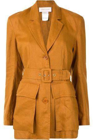 Karen Walker Chamomile single-breasted linen blazer - GOLDEN OAK