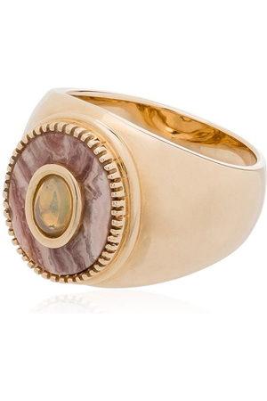 O Thongthai Herren Ringe - 9kt 'Rhodocrosite' Goldring mit Opal