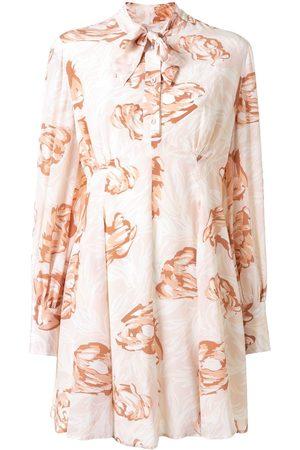 Karen Walker Seidenkleid mit Blumen-Print