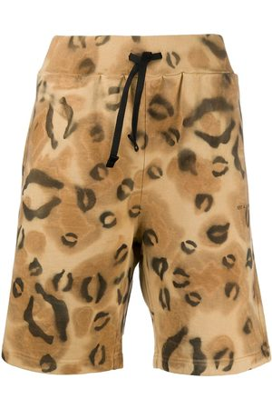 1017 ALYX 9SM Animal print relaxed shorts - Nude