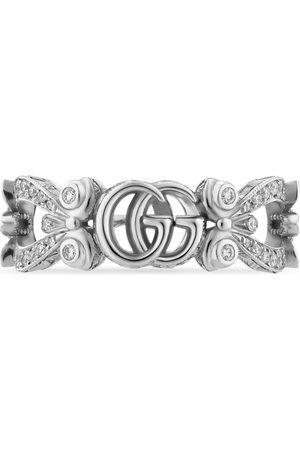 Gucci Ringe - Flora Ring 18 Karat mit Diamant-Pavé