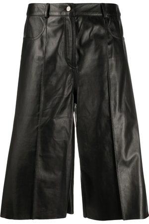 DROME Knee-length leather shorts