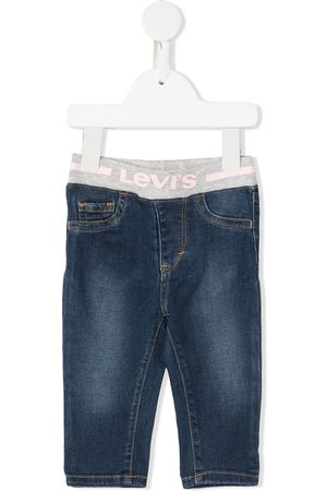 Levi's Cropped - Elasticated logo band jeans