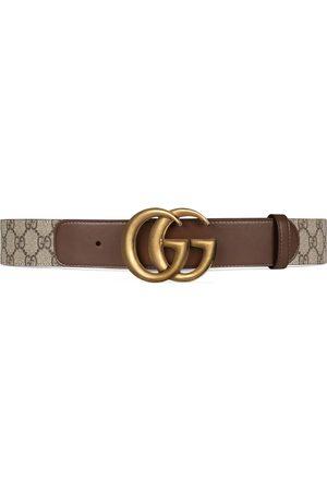 Gucci GG Ledergürtel mit Doppel G Schnalle