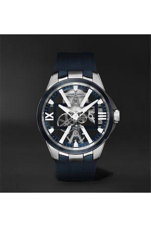 Ulysse Nardin Herren Uhren - Skeleton X Hand-Wound 42mm Titanium and Rubber Watch