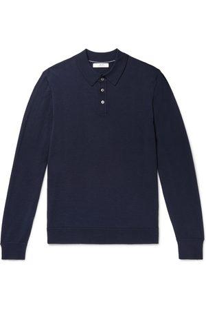 Mr P. Herren Longsleeves - Slim-Fit Merino Wool Polo Shirt